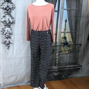Calvin Klein Black/White Tweed Pattern Pant  Sz 10
